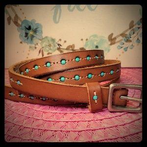 • Skinny Leather Belt •